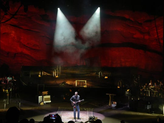 Eric Church performs at Red Rocks Amphitheatre in Morrison,