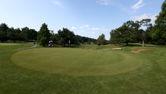 The 18th hole at Maple Moor Golf Course in White Plains