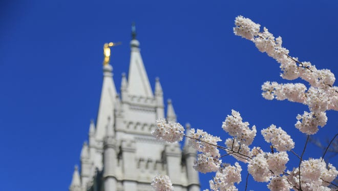 When Latter-day Saints are married in temples like this one in Salt Lake City, they are sealed for eternity. If a man's wife dies, he can be sealed to another woman when remarrying, causing some to wonder whether this creates a polygmous relationship in the next life.