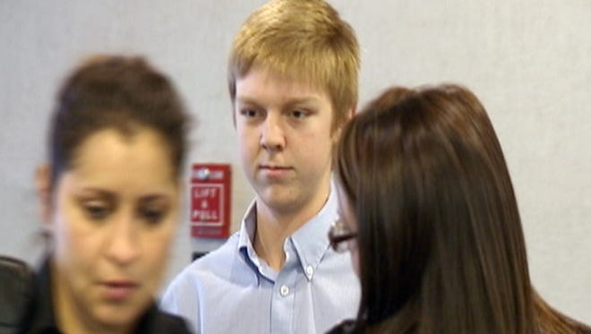 FILE - In this December 2013 image taken from a video by KDFW-FOX 4, Ethan Couch is seen during his court hearing in Fort Worth, Texas.