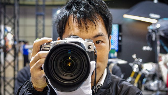 The Hasselblad HV camera at CP+ 2014 in Japan.