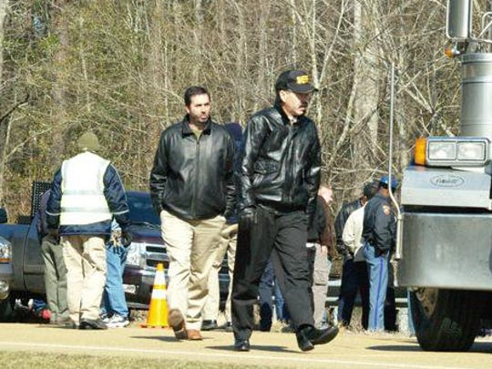 Then-Lawrence County Sheriff Joel Thames on a wreck scene in 2008.