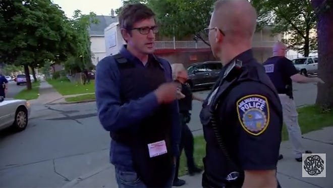 "A frame grab from Louis Theroux's ""Dark States — Murder In Milwaukee,"" a documentary examining the relationship between the Milwaukee police and the African American community."