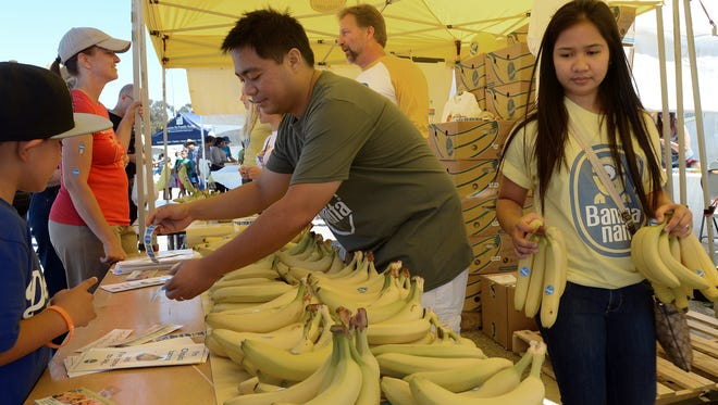 Free bananas are a highlight each year at Banana Festival, a celebration of both the tropical fruit and the Port of Hueneme. This year's event will be Saturday.