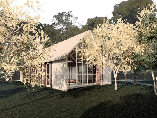 The new chapel will be in a wooded setting adjacent