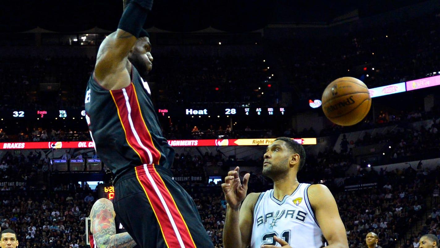 LeBron James cramp-free as Heat edge Spurs in Game 2