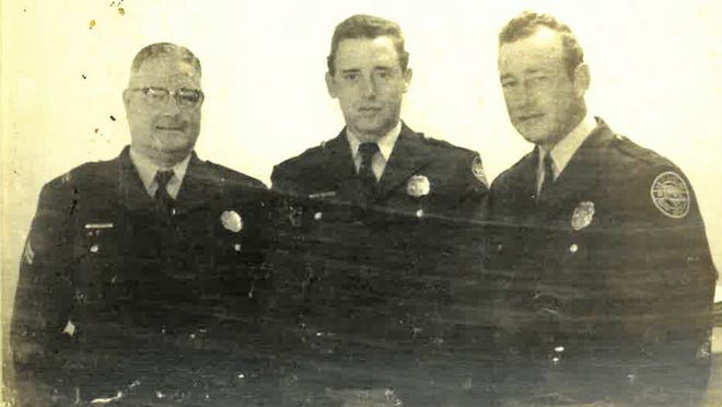 From left to right: Corporal Ralph Carter, Heyward L. Mitchum and Bill Swearingen.