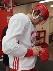 Detroit Red Wings prospect  defenseman Dennis Cholowski