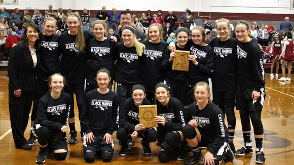 The North Buncombe Middle School girls basketball team won the French Broad Conference tournament on Thursday, putting the finishing touches on a 16-1 season.