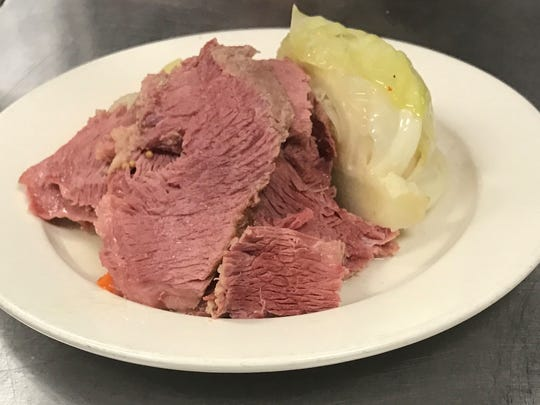 Corn beef and cabbage from Tumulty's Pub.