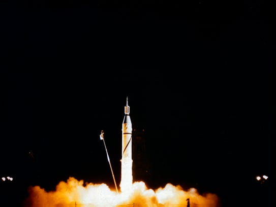 On Jan. 31 at 10:48 p.m., Explorer 1 launched into