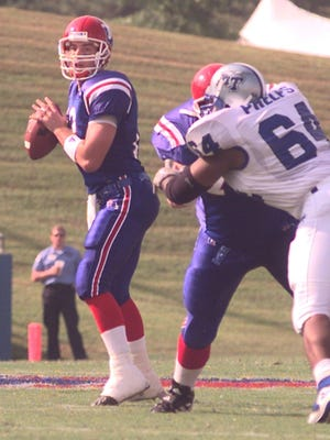 Former Louisiana Tech quarterback and current wide receiver coach Tim Rattay helped lead the Bulldogs to a win over MTSU in 1999.