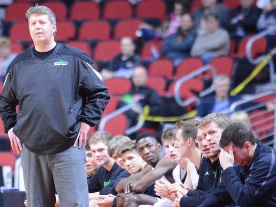 Grand View Christian School coach Dave Stubbs looks