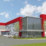 A a proposed elevation of the self-storage building planned at 4326 Kenilwood Drive off Sidco Drive.