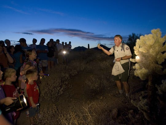 6/27: Scorpion Hunt - Usery Mountain |  Find a scorpion on the trail, attend a program about scorpions, and watch them feed the snakes at this family-fun night.  Details: 6:30 p.m. scorpion lecture; 7:30 p.m. snake feeding, 8 p.m. scorpion hunt, Saturday, June 27, Usery Mountain Regional Park, 3939 N Usery Pass Rd, Mesa, AZ 85207