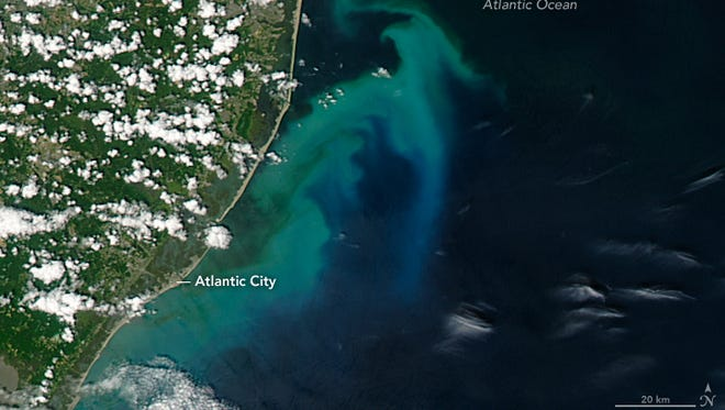 NASA's satellite image of Atlantic City and vicinity, taken July 6
