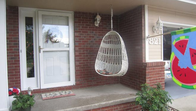 Cari Higgins reported her family's wicker hanging swing was stolen from her front porch in the 800 block of Southeast Peterson Drive in Ankeny early Monday.  Higgins said her family has enjoyed the swing for four generations.