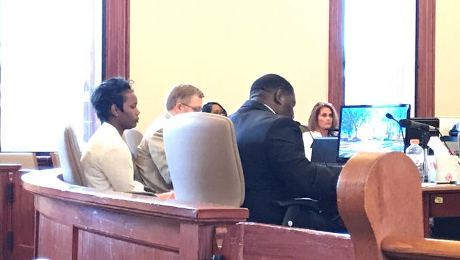 Joanie Calloway is on trial at Lafayette County Courthouse in Oxford.