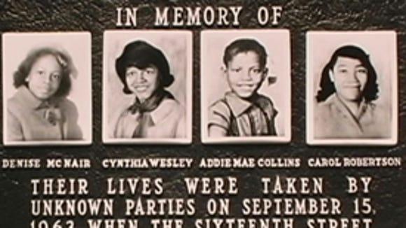 The KKK bombing of the 16th Baptist Church in Birmingham  on Sept. 15, 1963, killed four girls.