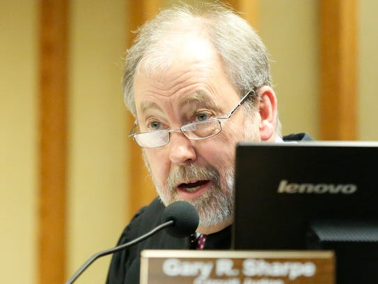 Judge Gary Sharpe presides over a Fond du Lac County