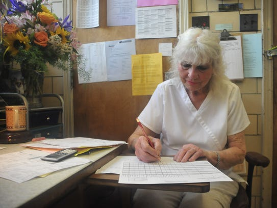 At the end of every day, Janice Horner keeps track