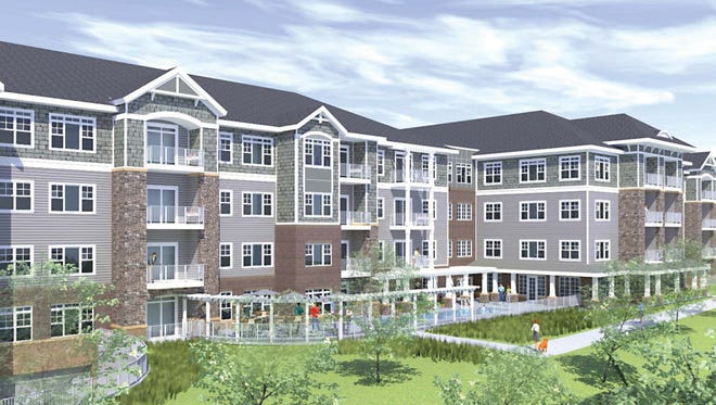 This rendering shows what The Oaks at Shorewood will look like from the northwest.