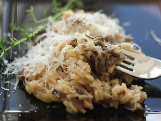 Wild Mushroom Risotto with Oregon White Truffles and Truffle Oil is a favorite dish at the Joel Palmer House in Dayton, Ore.