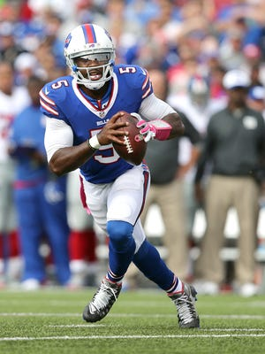 Bills QB Tyrod Taylor threw for 274 yards and a TD.  Those numbers may be misleading in a 24-10 loss to the New York Giants.