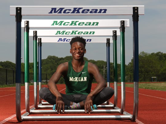 McKean's Ryan Thompson swept the boys 300-meter titles at the DIAA Division II and Meet of Champions events last week.