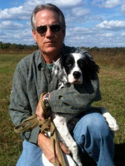 Allen D. Cornell, producing artistic director and CEO at Riverside Theatre, with his dog Brandy.
