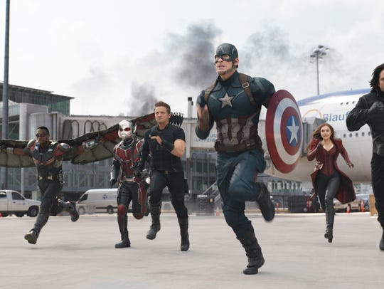 """See """"Captain America: Civil War"""" July 1 in Independence."""