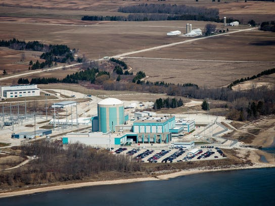An aerial view from April 2013 of the Kewaunee Power