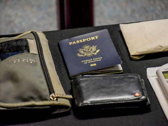 Otto Warmbier's passport and other items on display