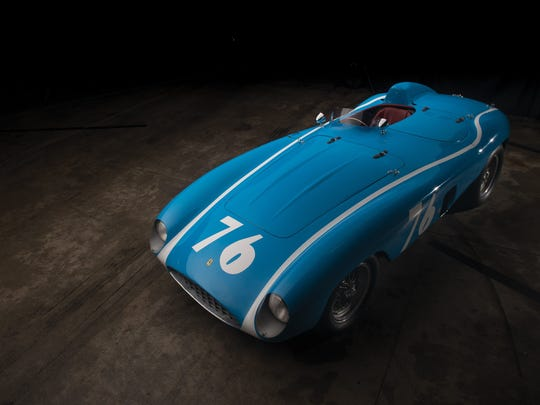 This 1955 Ferrari 121 LM Spider, with coachwork by Scaglietti, will be auctioned on Friday, August 18 at RM Sotheby's. Auction Estimate: $6.5-$7.5 million. Photo: courtesy Darrin Schnabel