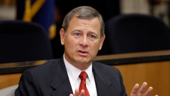Supreme Court Chief Justice John Roberts wrote the unanimous decision on property rights issued Tuesday.