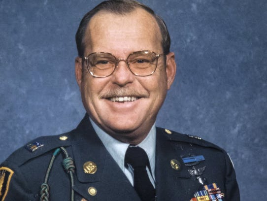 George Purifoy served in Vietnam. He had his nose removed