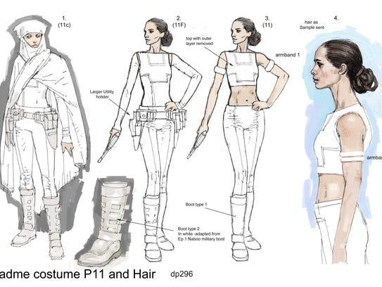 Concept Art Padmé Amidala Geonosis Arena Costume concept