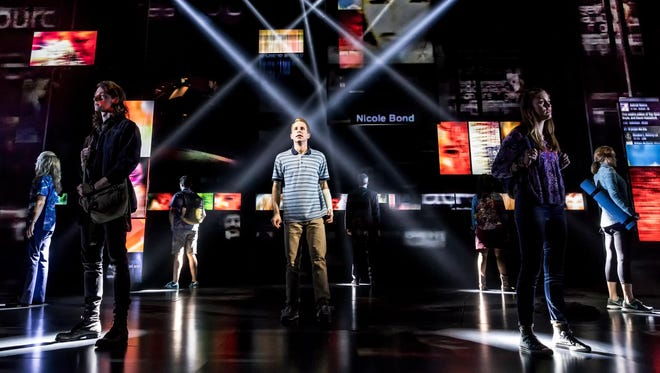 "Ben Platt and cast in ""Dear Evan Hansen."""