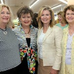 Cheryl Hardcastle Petty, Daisy King, U.S. Rep. Marsha Blackburn and Patsy Crutchfield. Daisy King hosted the annual birthday luncheon for Petty and Blackburn at Miss Daisy's Kitchen at Grassland Market.