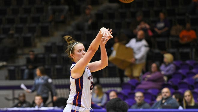 Libba Gilliam tied her career high with 11 points in Northwestern State's 76-72 win against Stephen F. Austin on Saturday.