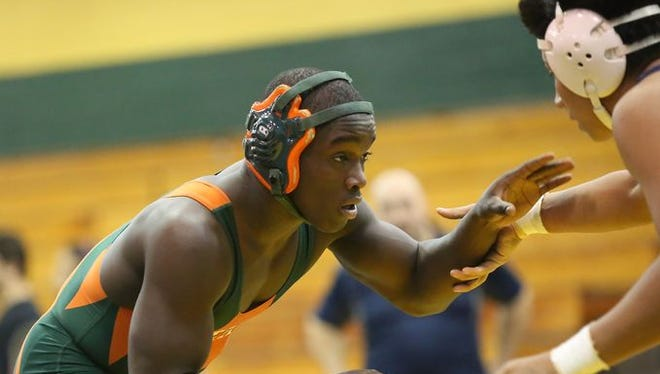 Yonkers, Harrison, Rye and East Ramapo square off in the Section 1 dual meet championships at Ramapo High School in Spring Valley on Wednesday, Dec. 2, 2015. East Ramapo took the win and advances to the quarterfinals.
