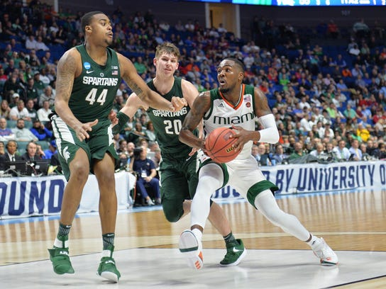 NCAA Basketball: NCAA Tournament-First Round-Michigan State vs Miami