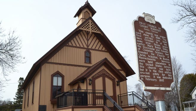 The First Church of Christ, Scientist in Oconto continues to hold weekly services 130 years after it was built as the first Christian Science church in the world. The modest structure was placed on the National Register of Historic Places in 1974.