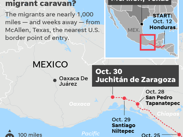 Migrant caravan departs Mexico City as new caravans merge together