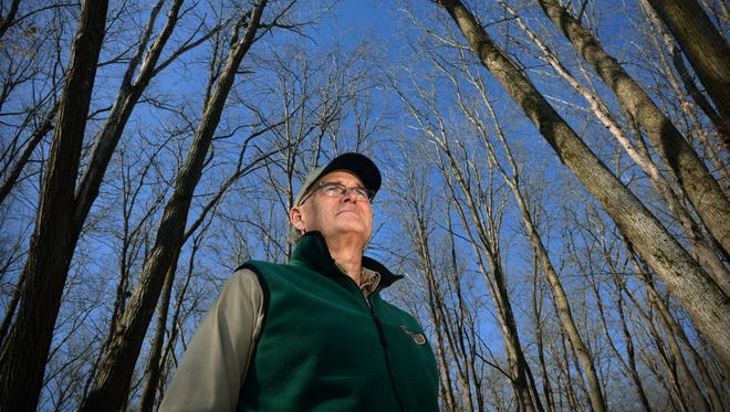 In the 25 years he's spent as Lake Maria State Park manager, Mark Crawford has seen the park's many bird species from just about every vista within its hardwood forest and wetlands. Winter bird-watching is among the attractions for snowshoers.