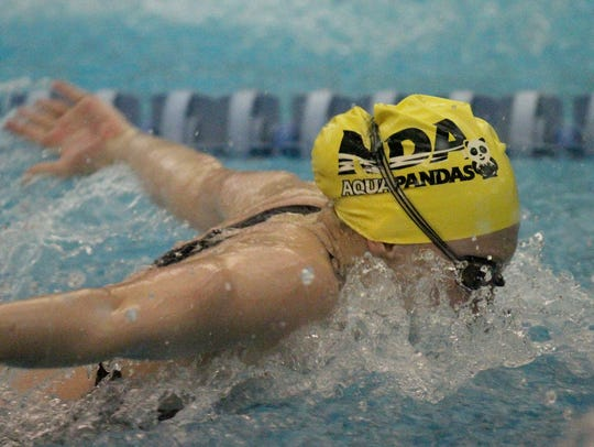 Notre Dame Academy's Allie  Piccirillo competes in