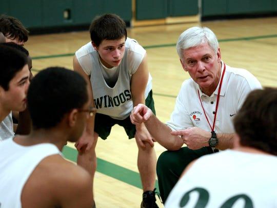 Winooski High School boys basketball coach Tom Obbagy,