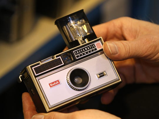 A Kodak Instamatic 100 camera like this revolutionized photography in the 1960s. Now, iPhones are doing the same for easily making videos.