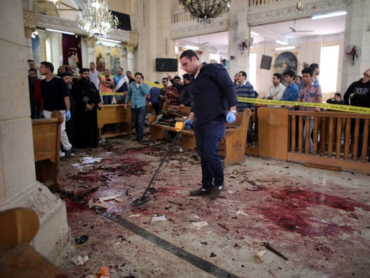 EPA EGYPT EXPLOSION COPTIC CHURCH WAR ACTS OF TERROR EGY