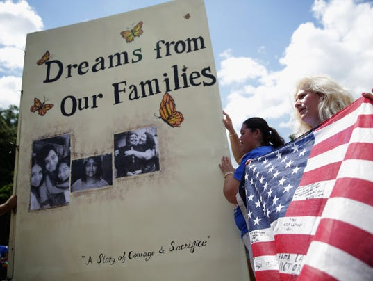 """""""DREAMers"""" Hold Rally On Immigration At White House"""
